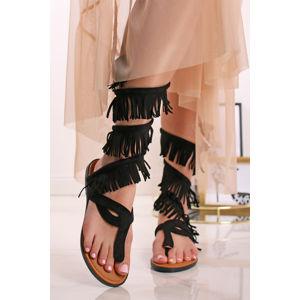 Černé sandály Petris