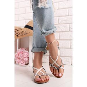 Bílé sandály Fedra