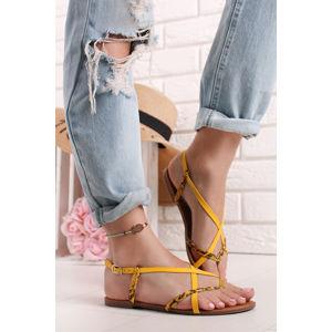 Žluté sandály Fedra
