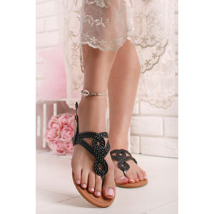 Černé sandály Hamona