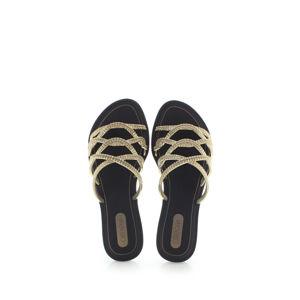 Černo-zlaté pantofle Preciosidade Slide Fem