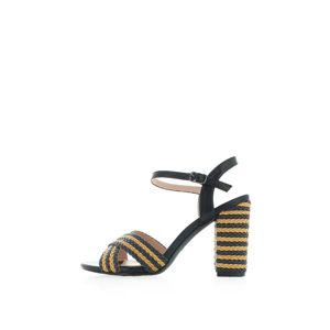 Béžovo-černé sandály Jeanette