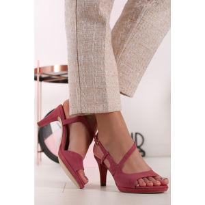Růžové sandály 1-28376