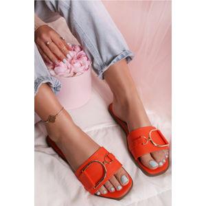 Oranžové pantofle Danice