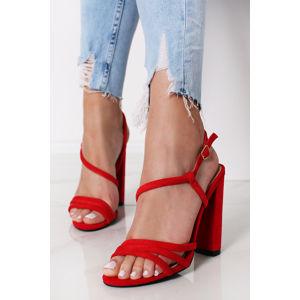 Červené sandály Raffiki