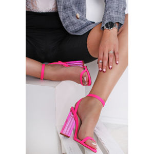 Neonově-růžové sandály Elaina