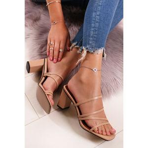 Béžové pantofle Annette