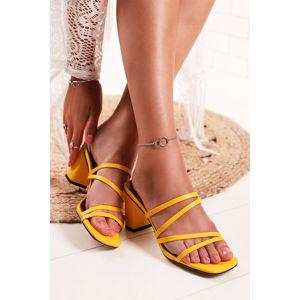 Žluté pantofle Annette
