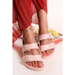 Dámské světle růžové pantofle Arizona Eva