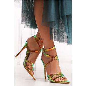 Fialovo-stříbrné sandály Alyse