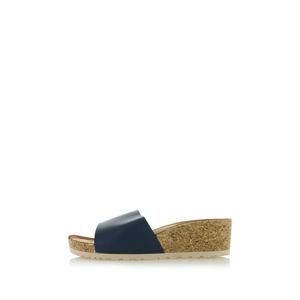 Modré platformové pantofle Patricia