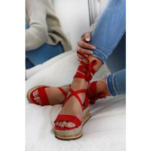 Červené platformové sandály Lorene