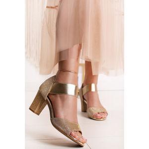 Zlaté sandály Charlize