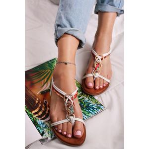 Bílé sandály Sorlene