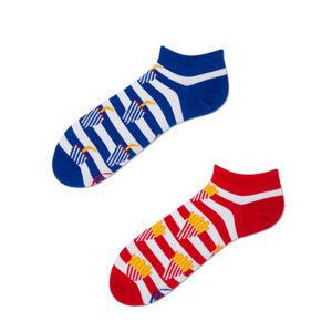 Modro-červené kotníkové ponožky Fries and Soda Low