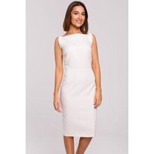 Smetanové šaty S216
