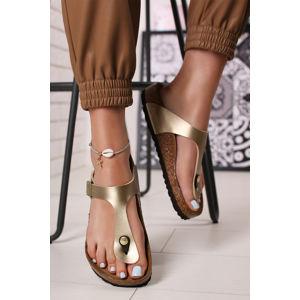 Zlaté pantofle Gizeh BF
