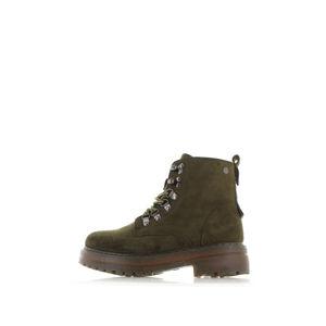 Tmavě zelené kotníkové boty Vonna