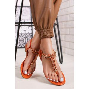 Oranžové sandály Carie