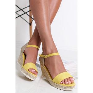 Žluté platformové sandály 69829