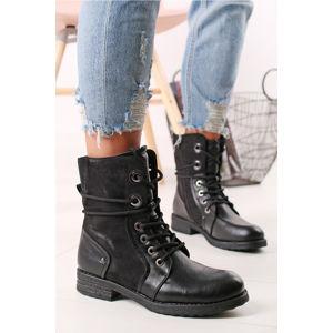 Černé kotníkové boty Hattie