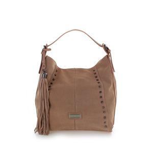 Světle růžová kožená kabelka 86094