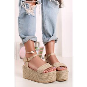 Béžové platformové sandály Livia