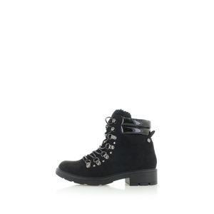 Černé kotníkové boty 48377
