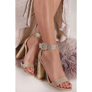 Zlaté sandále Saverie