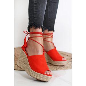 Oranžové platformové sandály Terry