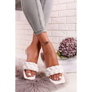 Bílé nízké pantofle Lolla