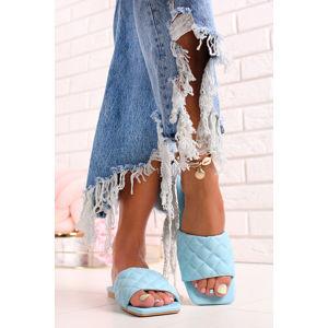 Světle modré nízké pantofle Ella