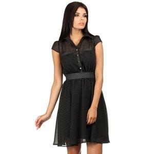 Černé šaty MOE 093