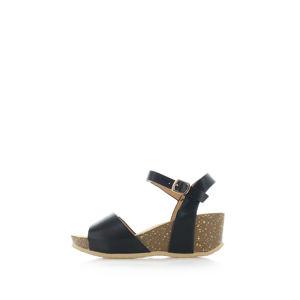Černé sandály Almana