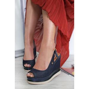 Tmavě modré platformové sandály Clipper Kelly Chan