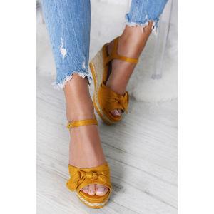 Žluté platformové sandály Alea