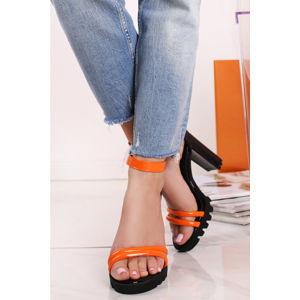 Oranžové sandály Jamelia