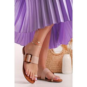 Růžové nízké pantofle Felice
