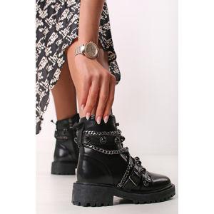 Černé kotníkové boty Anica