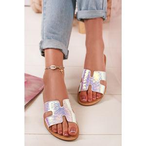 Stříbrné pantofle Danita