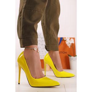Neónově-žluté lodičky Mindy