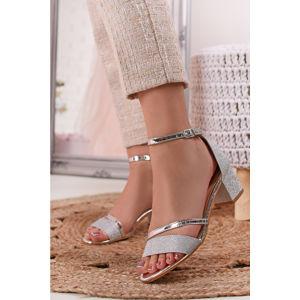 Stříbrné sandály Eileen