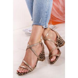 Zlato-leopardí sandály Simiere