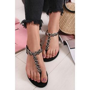 Černé sandály Roselle