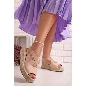 Béžové platformové sandály Perrie