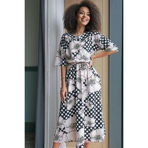 Černo-bílé tečkované šaty MQ120