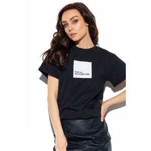 Černé tričko s krátkým rukávem LG534