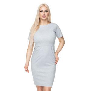 Světle šedé šaty 0118