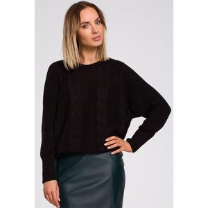Černý pulovr M554