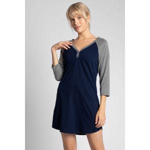 Tmavě modrá noční košile LA018
